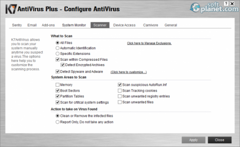 K7 Antivirus Plus Screenshot3