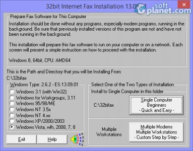 32bit Internet Fax Screenshot4