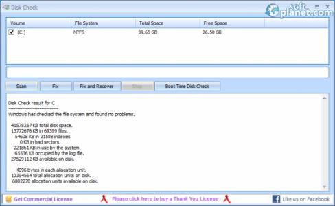 Disk Check Screenshot2