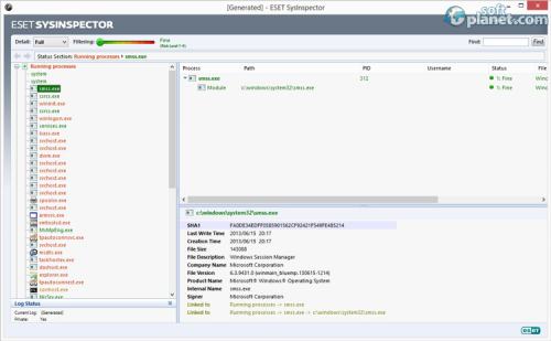 ESET SysInspector Screenshot2