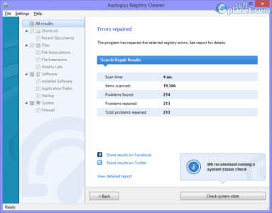 Auslogics Registry Cleaner Screenshot5