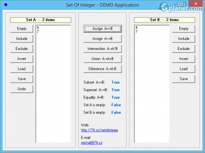 TSetOfInteger for Delphi Screenshot2