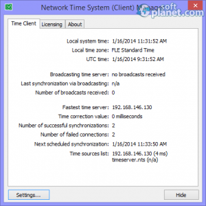 Network Time System Screenshot3