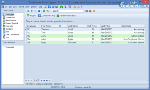 PayWindow Payroll System Screenshot2