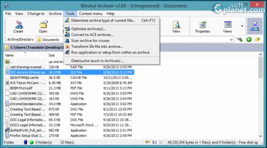WinAce Screenshot4