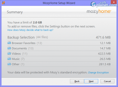 Mozy Screenshot5