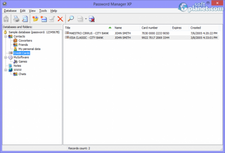 Password Manager XP Screenshot2