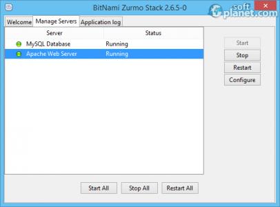 BitNami Zurmo Stack Screenshot2
