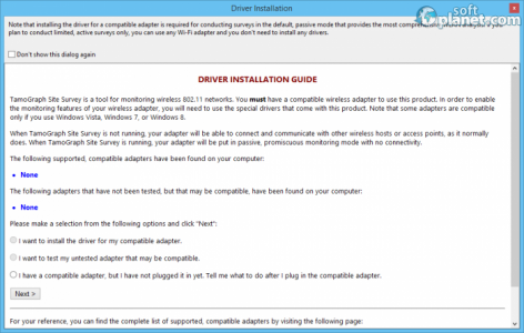TamoGraph Site Survey Screenshot2