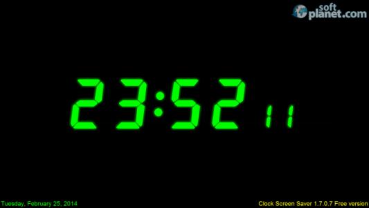 ABF Software Clock Screen Saver Screenshot2