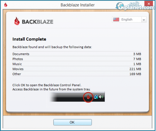 BackBlaze Screenshot4