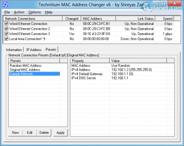 Technitium MAC Address Changer Screenshot3