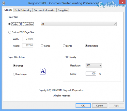 PDF Document Writer Screenshot3