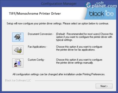 Black Ice Monochrome Printer Driver Screenshot2