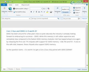 Windows Live Writer 2012 Screenshot3