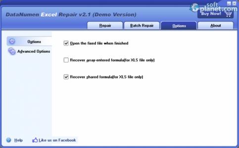 DataNumen Excel Repair Screenshot3