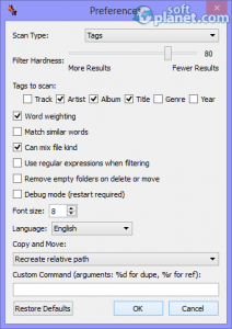 dupeGuru Music Edition Screenshot3