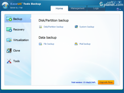 EASEUS Todo Backup Server Screenshot2