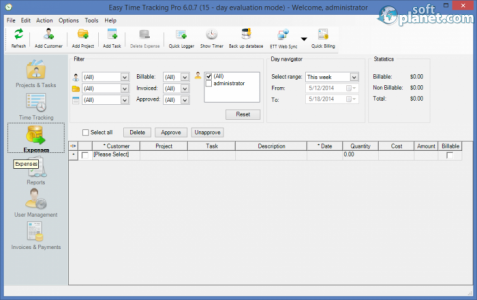Easy Time Tracking Pro Screenshot2