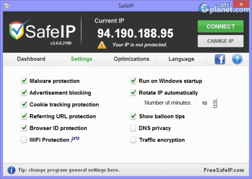 SafeIP Screenshot2