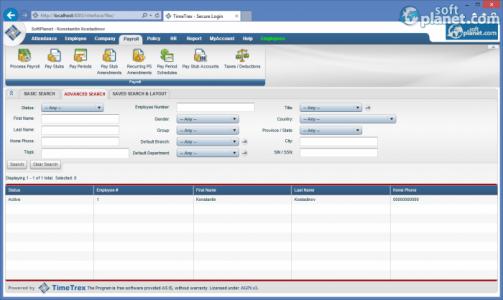 TimeTrex Time and Attendance Screenshot4
