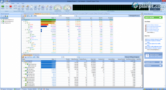 Capsa Network Analyzer Free Edition Screenshot3