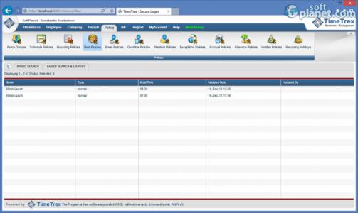 TimeTrex Time and Attendance Screenshot2