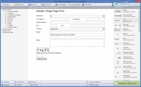 Arclab Web Form Builder Screenshot4