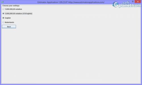 Estimator Screenshot4