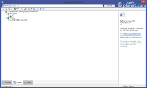 Mirekusoft Install Monitor Screenshot2