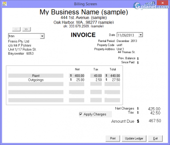 Tenant Billing Screenshot5