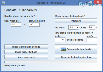 Portable gnuThumbNailer Screenshot3