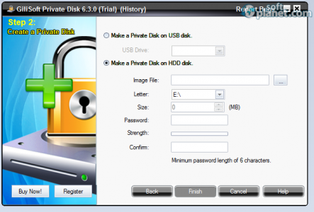 GiliSoft Private Disk Screenshot2