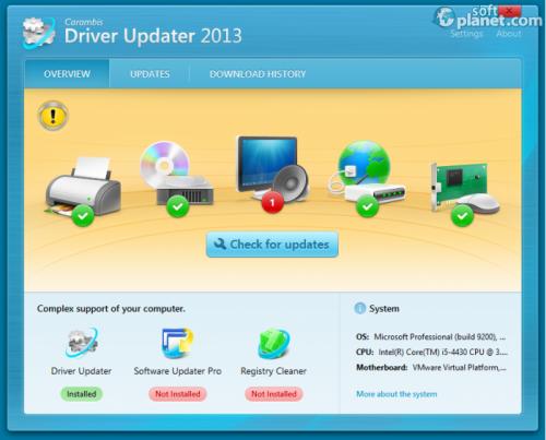 Carambis Driver Updater – отличный установщик всех драйверов вашей системы