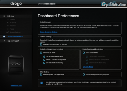 Drobo Dashboard Screenshot2