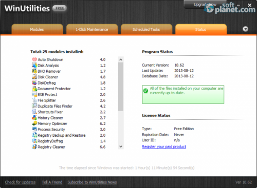 WinUtilities Free Screenshot3