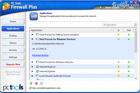 PC Tools Firewall Plus Screenshot2