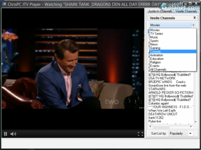 ChrisPC JTV Player Screenshot3