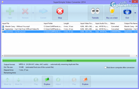 SuperSimple Video Converter Screenshot3