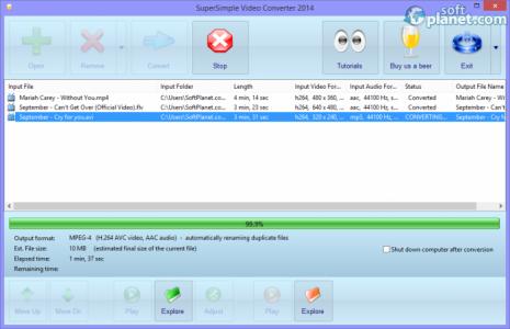 SuperSimple Video Converter Screenshot3