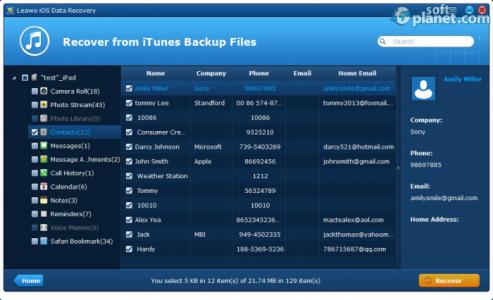 Leawo iOS Data Recovery Screenshot3