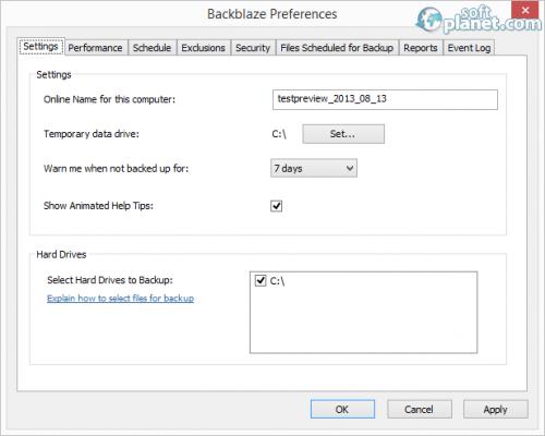 BackBlaze Screenshot5