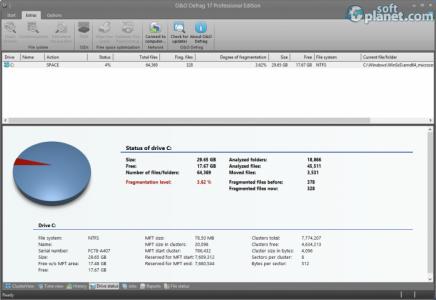 O&O Defrag Professional Edition Screenshot4