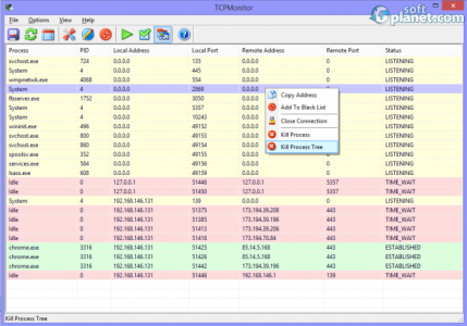 TCP Monitor Screenshot2