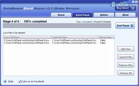 DataNumen Excel Repair Screenshot2