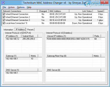 Technitium MAC Address Changer Screenshot2