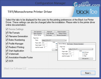 Black Ice Monochrome Printer Driver Screenshot3