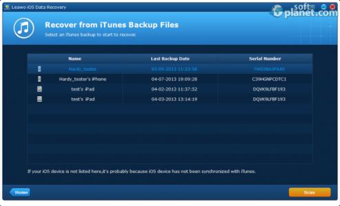 Leawo iOS Data Recovery Screenshot5