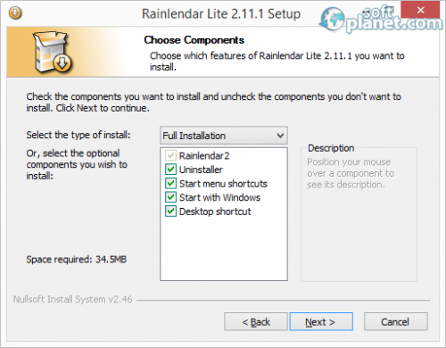 Rainlendar Lite Screenshot2