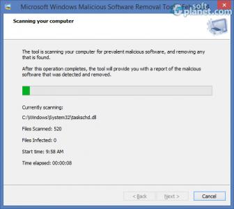 Windows Malicious Software Removal Tool Screenshot2